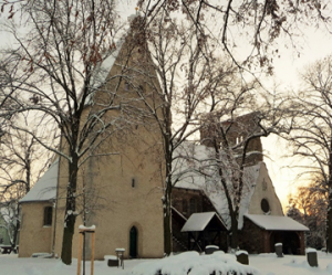 Kirche im Schnee - Osmünde