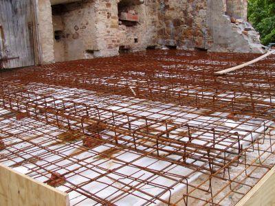 bewehrte Betondecke - Sanierung Kirche Osmünde